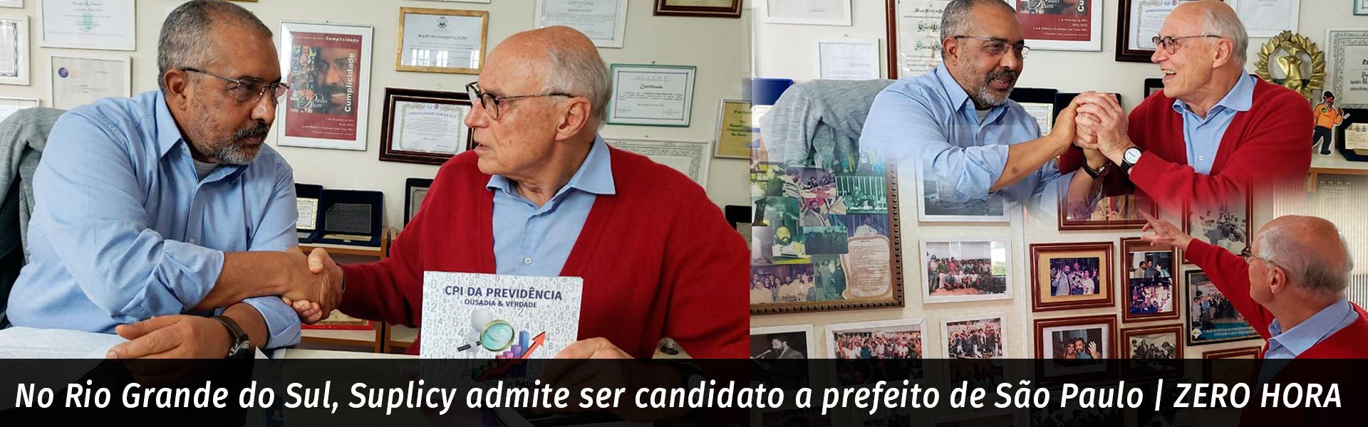 No Rio Grande do Sul, Suplicy admite ser candidato a prefeito de São Paulo